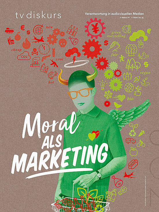 "Cover tv diskurs 91, 1/2020: ""Moral als Marketing"""